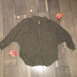 Forest green Button down shirt